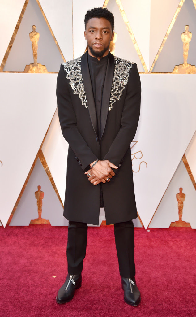 Chadwick Boseman, 2018 Oscars, Red Carpet Fashions