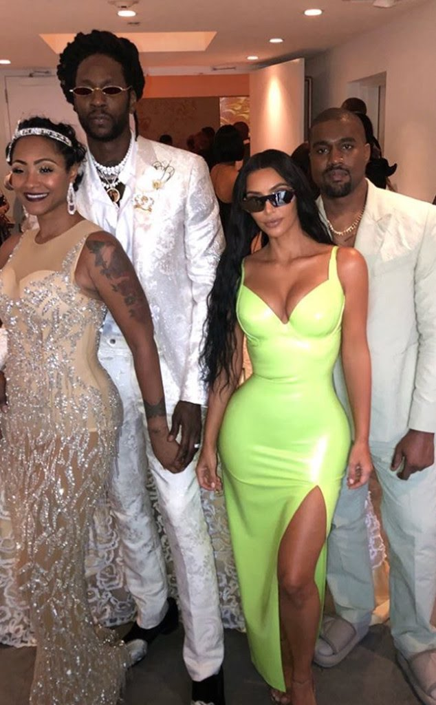 Kim Kardashian, 2-Chainz, Kanye West, Kesha Ward